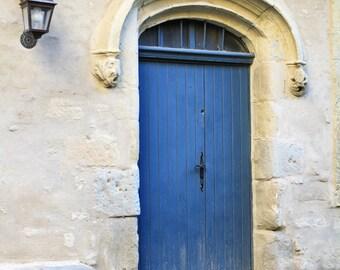 French doors, doors of France, blue door, french blue door, fine art photography, wall art, Carcassonne door, old door print, home decor