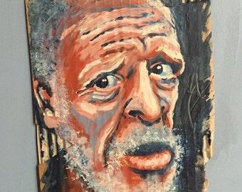 """Painting on cardboard """"Marius"""""""