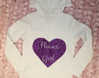Custom Flower Girl Zip Up Hoodie