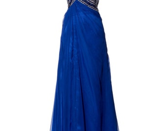 Beaded bust strapless sweetheart empire waist prom party dress evening gown