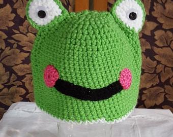Children's Green Frog Cap