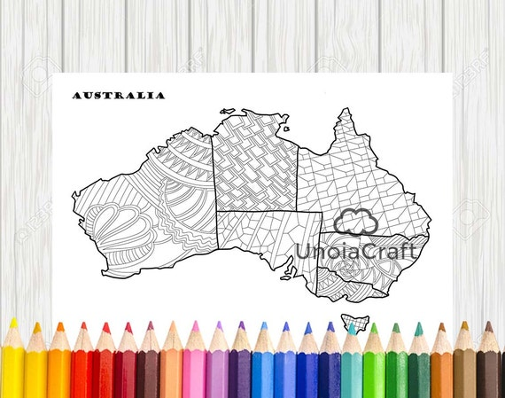 australia map coloring page map coloring sheets pdf color therapy australia map print australia colouring printable mandala coloring - Australia Coloring Pages Printable