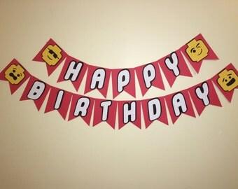 Lego Birthday Banner - Lego Banner - Lego Party Theme - Lego Birthday party - Lego Party Supplies