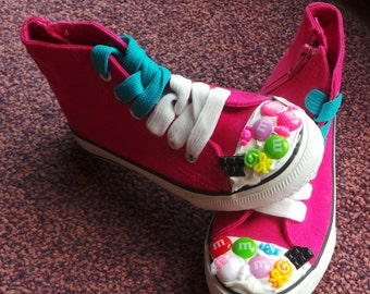 Girls Hot Pink Sweet Decoden Hightops