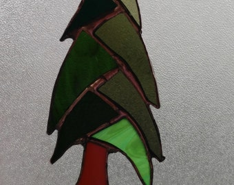 Stained Glass Redwood Tree Suncatchers-Tree Suncatchers-Redwood Trees-Tree-Stained Glass Redwood Tree