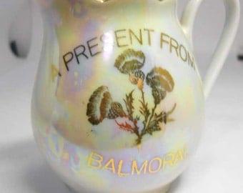 Pearl Lustre Souvenir Jug Vintage Winterling Balmoral