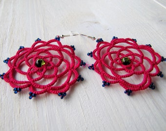 DreamCatcher earrings magenta