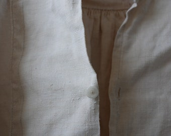 french linen and hemp smock,farmershirt long 1800