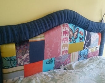 Patchwork super king size headboard
