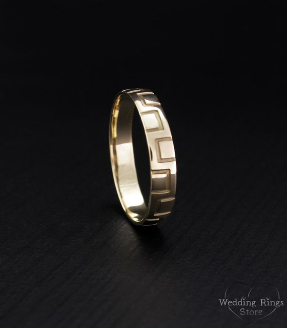 cheap wedding band band 14k solid gold comfort fit band