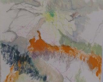 Original, mixed media abstract painting