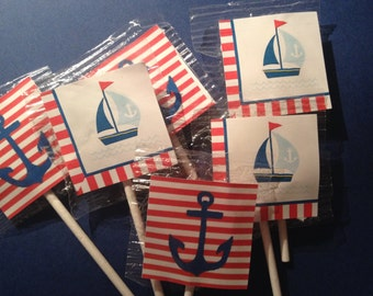 Nautical Lollipop Favors        Ahoy It's A Boy  Lollipops     Sailboat  Birthday