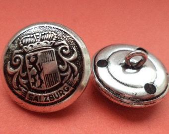 19 mm (6101) metal button coat buttons buttons 7 metal buttons silver