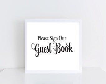 Wedding or Party GuestBook Sign INSTANT DOWNLOAD Printable, DIY