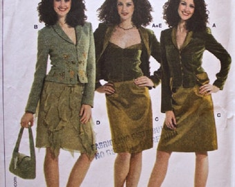 Burda 8131 Misses' Fitted Suit with Jacket, Skirt, Underblouse Sizes 8-18 UNCUT