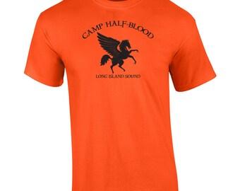 Camp Half Blood demi god funny costume horse goddess humor retro vintage - Apparel Clothing - Mens T-shirt - 138