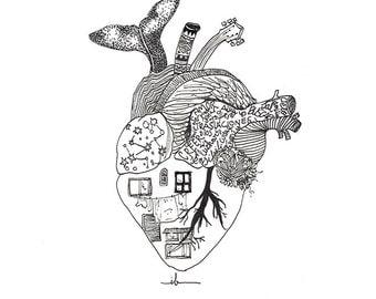 Blade with illustration / Illustration fashion