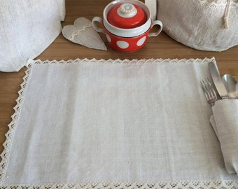 Natural linen placemat set hand woven linen towel,table placemat, linen gift,table mat,dinning placemats,table decor, table serving