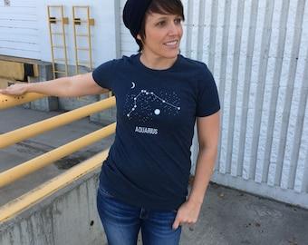 Cancer Constellation Shirt - Starry Night - Astrology