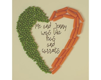 Peas and Carrots 12x12