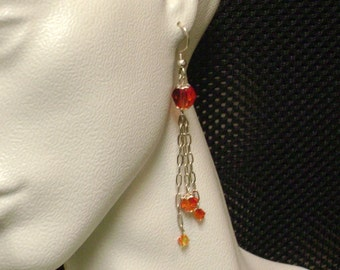 3-strand Swarovski Crystal Dangle Earrings