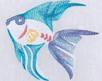 Mylar Fish  ( 10 Machine Embroidery Designs from ATW )