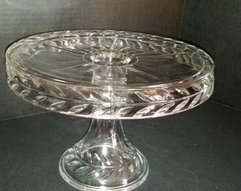 Vintage Cake Pedestal with Liquor Well