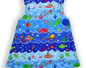 Sea Friends Baby Pinafore Dress