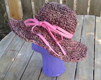 Sun hat, summer hat. 100% natural Raffia fiber. Beach Hat, Sun Hat. Women's fashion hat.