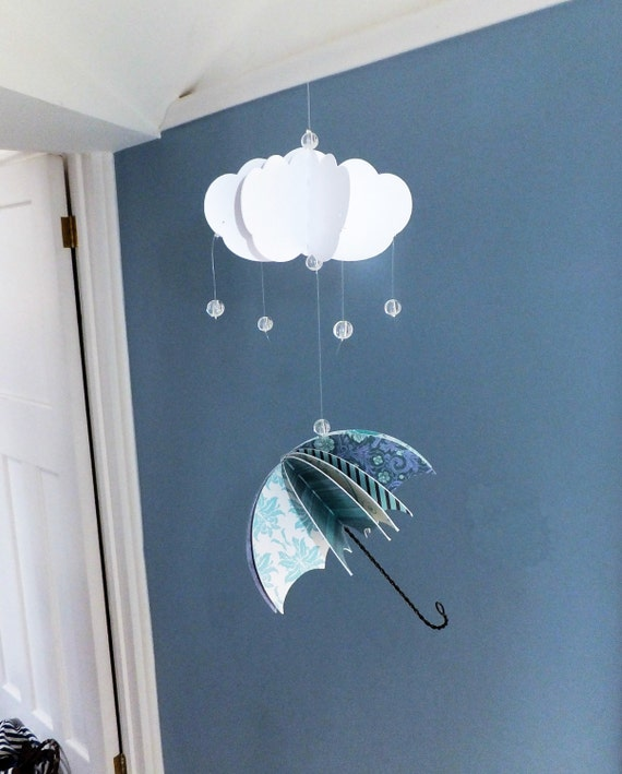 Diy Umbrella Mobile Kit Make Your Own Weather Mobile Mobile Diy Craft Kit Diy Home Decor From
