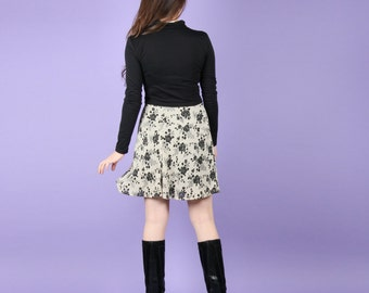 90s Chiffon Floral Skirt