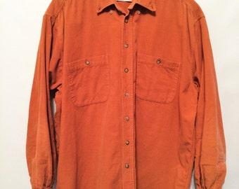 Orange Courduroy Shirt
