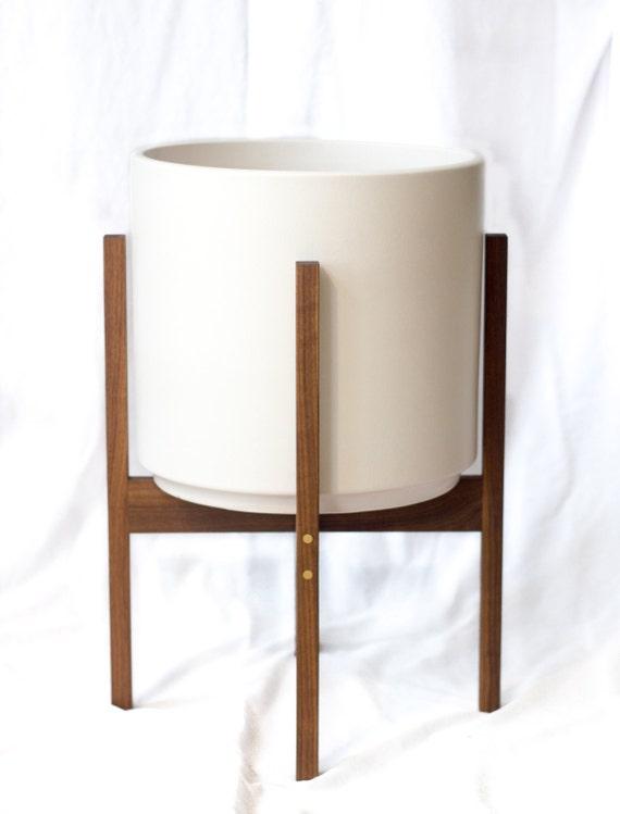 large mid century modern planter stand by objectorienteddesign. Black Bedroom Furniture Sets. Home Design Ideas