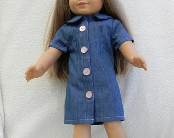 American Girl Doll Shirt Dress
