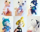 Custom Animal Crossing Wobble Doll Art Wool felt poseable handmade