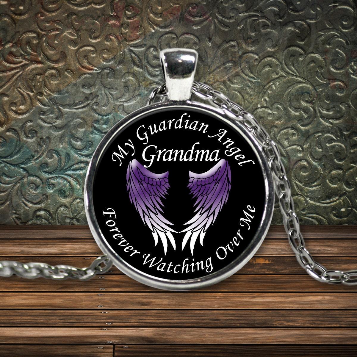guardian angel necklace grandma my grandma is my by calikays