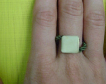 Handmade fashion geometric ring