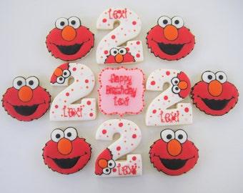 Elmo inspired cookies/Sesame Street Cookies