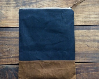 Handmade Waxed Canvas iPad Case // iPad Sleeve // Tablet Case