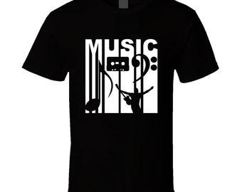 Vintage Retro Style Music T-shirt