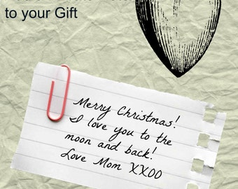 Add A Private Note To Your Gift