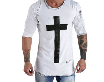 Cross T-Shirt 3/4 Sleeve