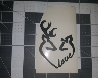 Deers in love Decal/sticker