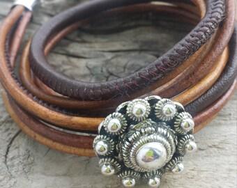 Zeeland, Zeeland, dutch button button button, double wrap bracelet, double leather bracelet, leather, dutchsovenirs, gift