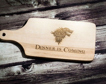 Dinner is Coming Cutting Board Game of Thrones