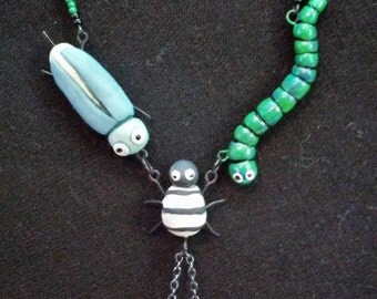 Oogie Boogie bugs and dice Necklace
