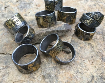 Brazed and Welded Steel Rings, Textured Metal Bands