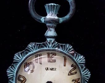 Vintage Style Clock Necklace