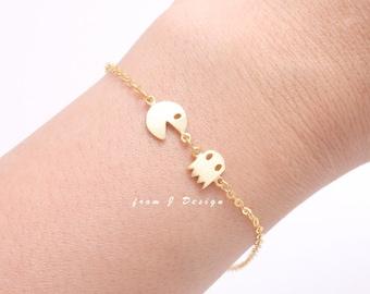 Pacman Ghost Chain Bracelet
