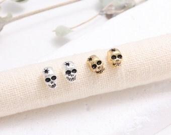 Small Skull Stud Earrings
